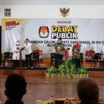 KPU Blora Sukses Gelar Debat Publik Pilkada 2020
