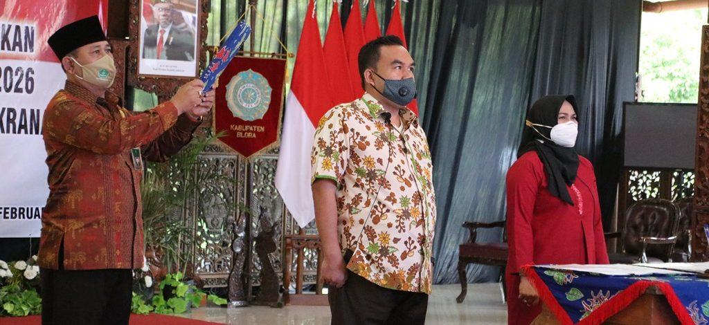 Arief Rohman-Tri Yuli Setyowati Ikuti Gladi Pelantikan Kepala Daerah di Pendapa Rumah Dinas Blora